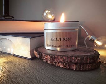 A #fiction candle