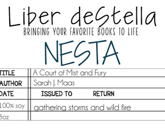 Nesta - A Court of Mist and Fury Inspired Candle - Book Candle - Book Gift - Book Lover - Bookish