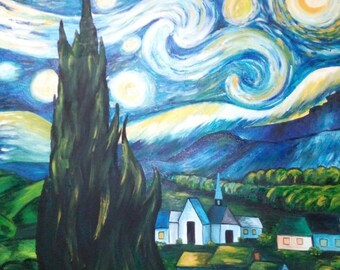 """Painting """"Starry Night"""" by Vincent Van Gogh"""