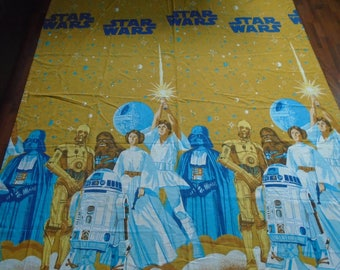 2 Vintage Star Wars Bed Sheets Fabric