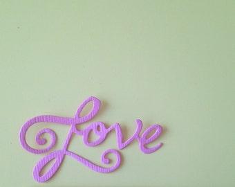 Love Die Cut Phrase