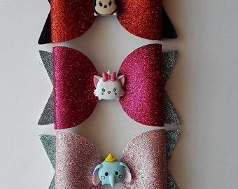Tsum Tsum Disney Glitter Bow