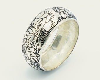 Vintage silver metal bangle, vintage bangle, bangle, metal bangle, retro bracelet, vintage bracelet, retro bangle, bracelet