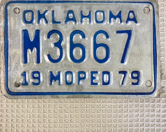 1979 Oklahoma Moped License Plate