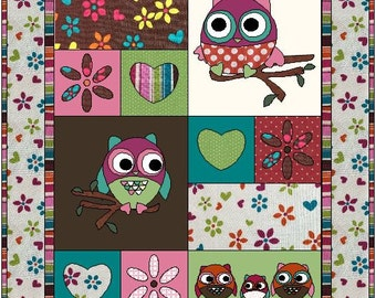 Owl Tree Quilt Pattern - digital download