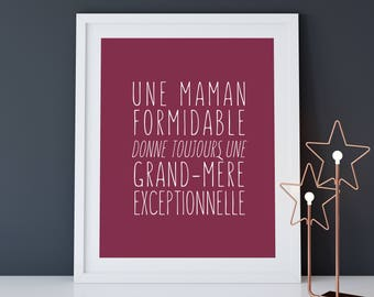 Displays a great Mom always gives a grandmother, ideal as a gift, MOM gift