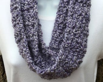 Lavender Spring/Summer Soft Textured Infinity Cowl Scarf Handmade