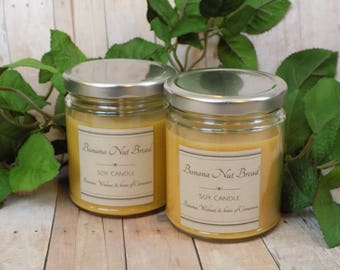 Banana Nut Bread - Soy Candle- Natural Candle