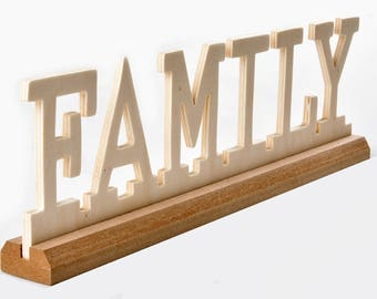 Wooden sign Family / plywood sign / wall decor / office decor / wooden plate