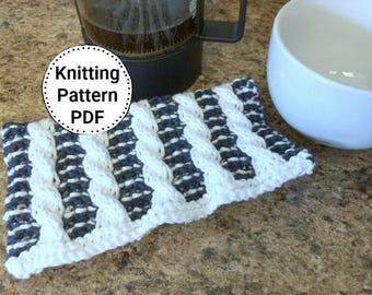 Knitting Pattern | Dishcloth Pattern | Timeless