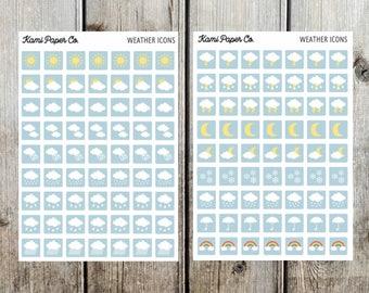 Weather Icon Happy Planner Sticker Kit, Erin Condrin
