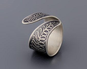Sterling Silver Fern Ring