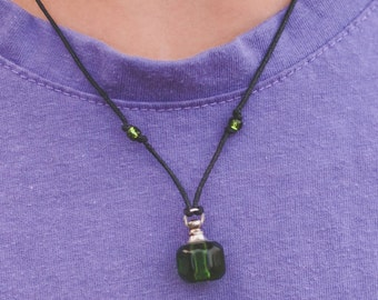 Essential Oil Green Child's Necklace