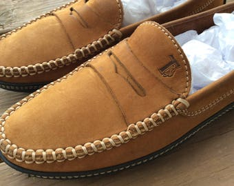 Tods leather loafers glove soft flat shoes slip on old new stock size 7 EU 37