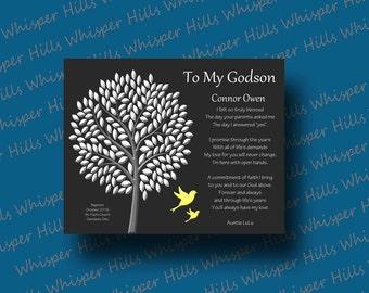 GODSON gift - Godson personalized Gift - Gift for Baptism - Christening - Dedication - Godchild - Custom Gift for Godson - Communion Gift