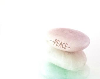 Peace Photography Art Print - Modern Home Decor, Pink, White, Mint Green, Minimalist Decor - Zen Art