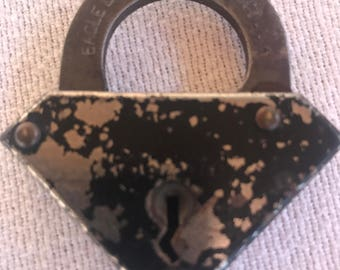 Vintage Eagle Lock Co Iron Lever Padlock