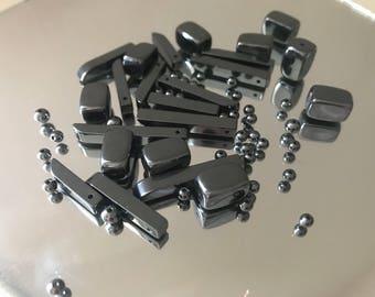 Black Gun Metal Grey Beads