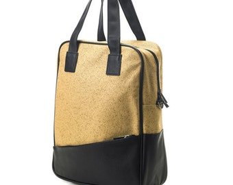 Synthetic Leather Type Multi function Backpack, Messenger & Tote bag (Beige)