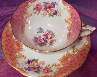 Pretty In Pink-Paragon Teacup and Saucer