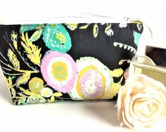 Lipstick Holder - Lipstick Bag - Bridal Shower Gift - Small Makeup Bag - Lipstick Pouch - Gift for Her - Small Cosmetic Bag - Floral Pouch