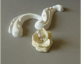 Ivory flower cold porcelain