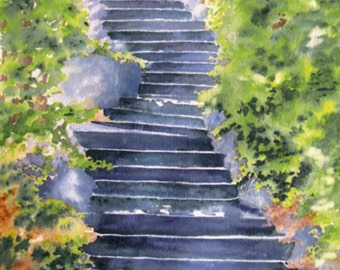 Central Park Staircase Giclee