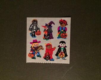 Sandylion vinatge very rare kromekote Halloween kid stickers