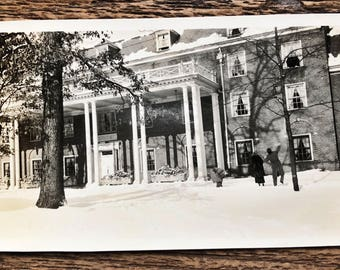 Original Vintage Photograph | The Snowy Mansion