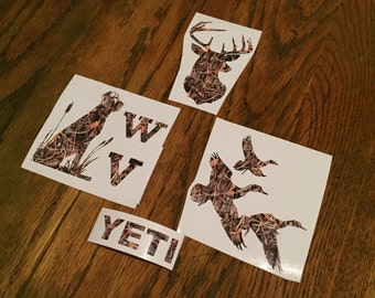Camo Deer, Duck, or Lab Decal for Yeti/Orca Cup