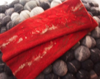 Ready to ship! Arm warmers Fingerless gloves red
