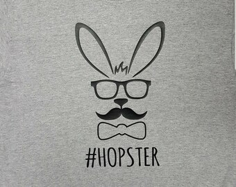 Easter Shirt, Hipster Bunny, Hopster Bunny, Funny Easter Shirt, Custom Easter Shirt, Personalized Shirt, Easter Gift, Family Shirt