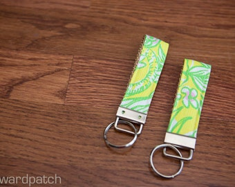KEYCHAIN in Lilly Pulitzer in Crazy Cat House