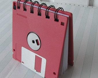 Watermelon Red Recycled Geek Gear Blank Floppy Disk Mini Notebook