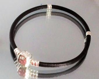Faux Leather Bracelet Fit European Charms 19cm Jewelry Making
