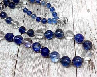 Semi-precious Blueberry Quartz Necklace