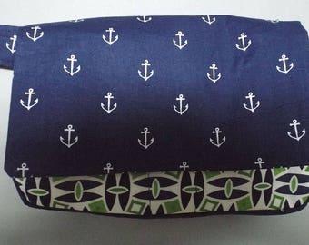 Belt Bag - Fanny Pack Plus Bag - Utility Bag - Jogging Bag - Hip Bag - Travel Bag - Festival Bag - Anchors Away Fabric