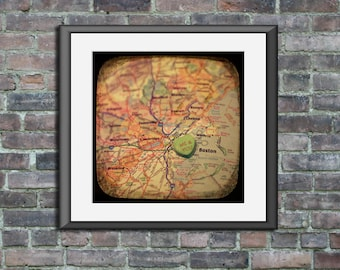 me & you boston candy heart map art ttv unframed photo print anniversary engagement wedding housewarming gift home decor wall