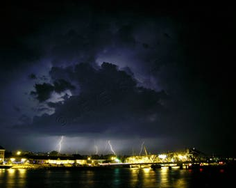 Lightning Over Sturgeon Bay
