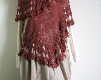 Vintage Style Filet Crochet Stole Pattern