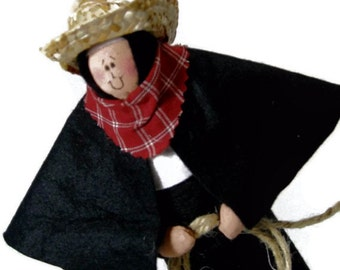 "SALE! Catholic Gift Nun Doll-Catholic humor ""Bonunza""--The Sister who loves the west"
