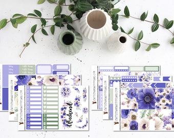 Wild Violet || Weekly Planner Kit (175+ Stickers) || Erin Condren, Happy Planner, Recollections || SeattlekangarooPlans