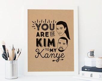 Kim & Kanye 'All Day' A3 Print