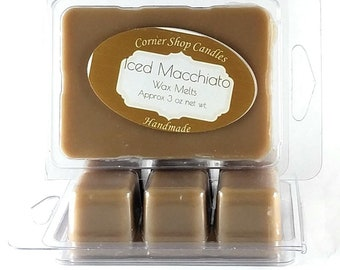 Iced Macchiato Wax Melts. Scented Wax Melts. 6 Cube Pack. Macchiato Scented. Wickless Candle Wax