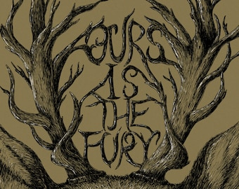 Ours is the Fury- Game of Thrones-inspired House Baratheon A3 art print- stag- FREE WORLDWIDE SHIPPING