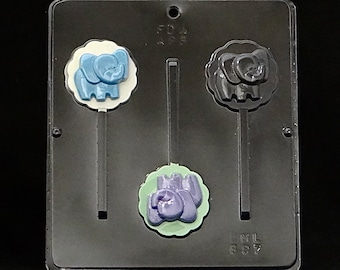 Elephant Chocolate Lollipop Candy Mold 697