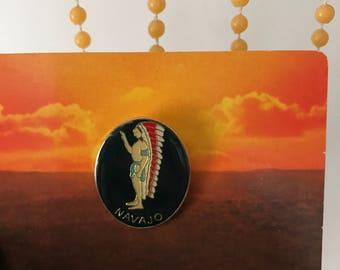 Vintage Deadstock Native American Navajo Pin