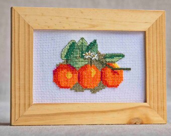 Embroidery Cross stitch kit - Oranges - Naranjas - Punto de cruz - DIY kit