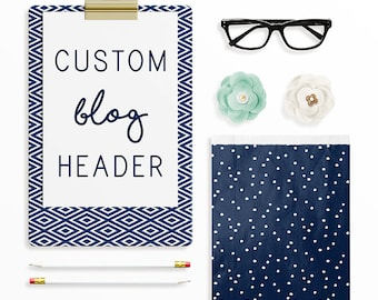 Custom Blog Header, Custom Blog Head, Squarespace, Blogger, Wordpress, Pro Photo Blog, Header Logo Design, Blog Logo Design