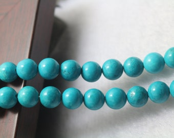 Turquoise Howlite beads,4mm 6mm 8mm 10mm 12mm Turquoise Howlite beads,Smooth Round Gemstone Beads,15 inches 1 strand